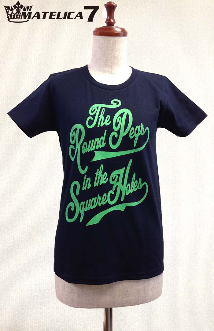 "【MATELICA7】 women's Tシャツ ""The Round Pegs in the Square Holes"""