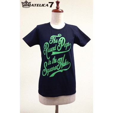 """【MATELICA7】 women's Tシャツ """"The Round Pegs in the Square Holes"""""""